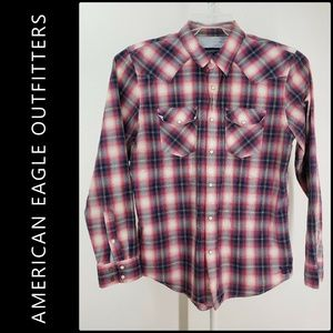 American Eagle Outfitters Men Button Front Shirt